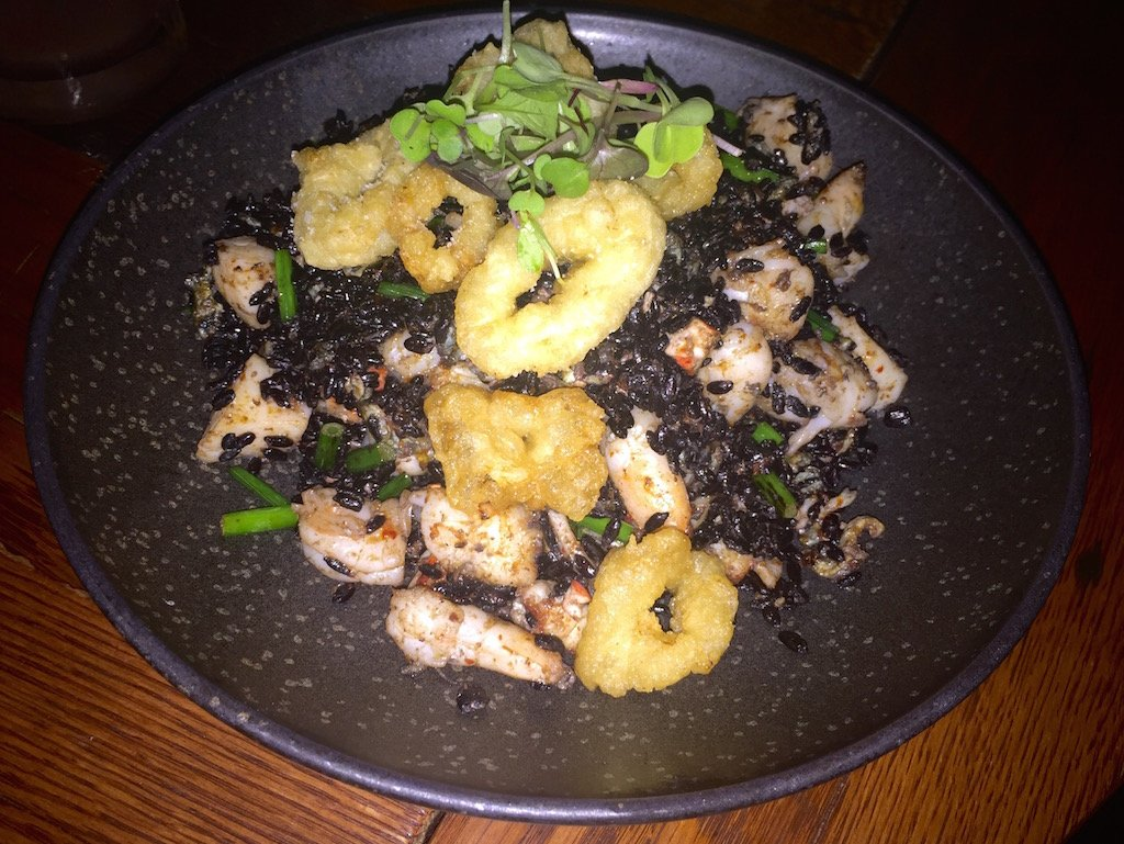 TAO Downtown NYC Seafood Black Rice
