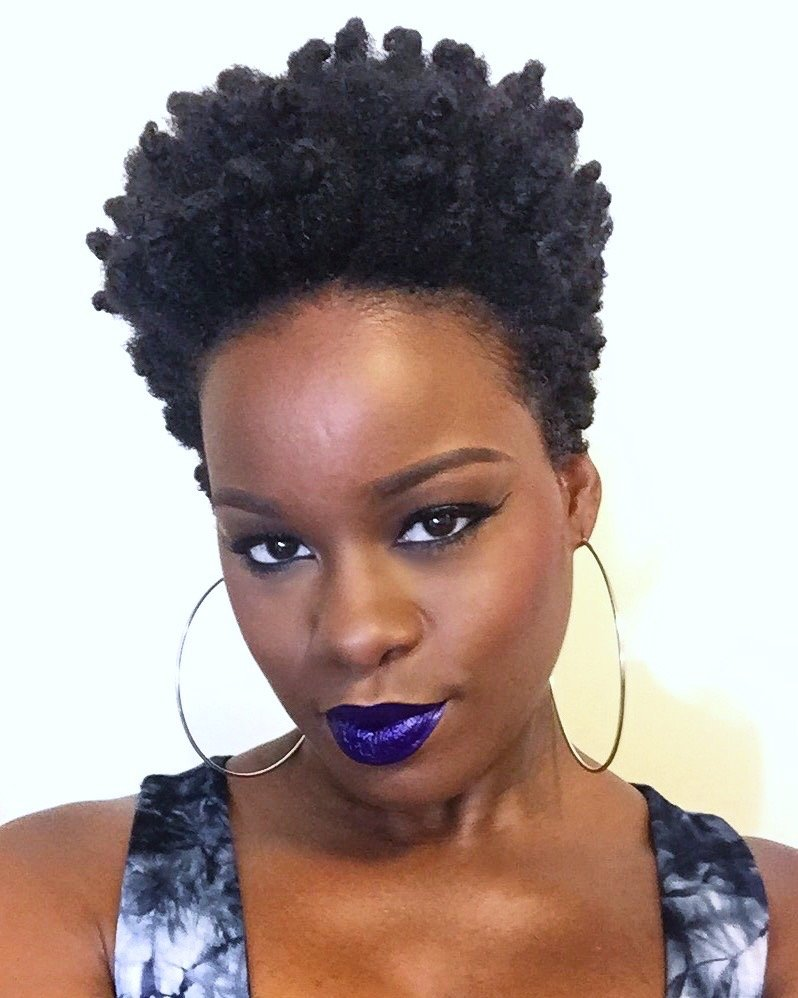 Bantu Knot Out For Short Natural Hair