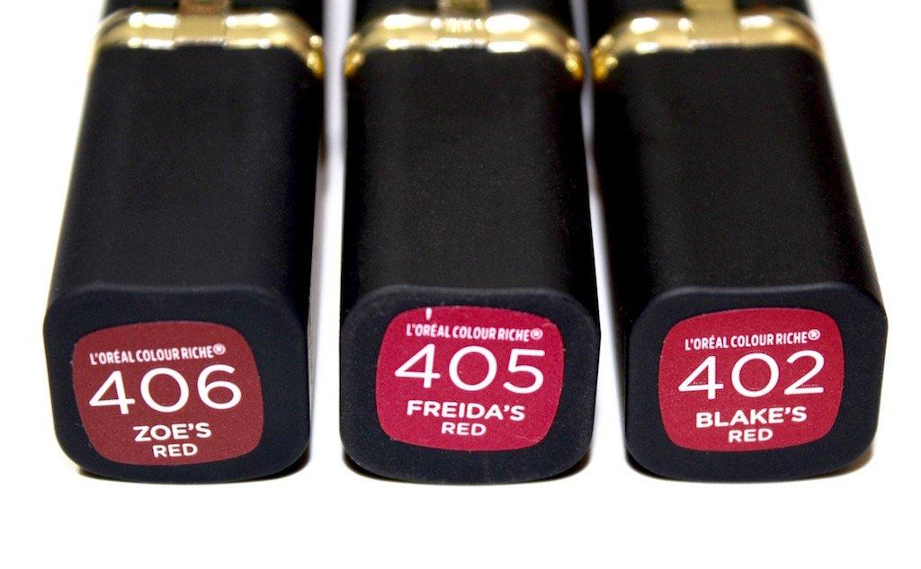L'Oreal Colour Riche Collection Exclusive Reds