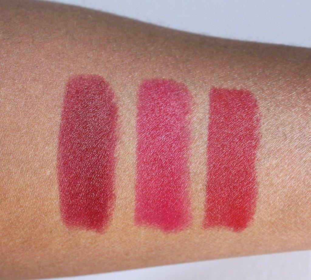L'Oreal Colour Riche Collection Exclusive Reds Swatches Zoe Freida Blake