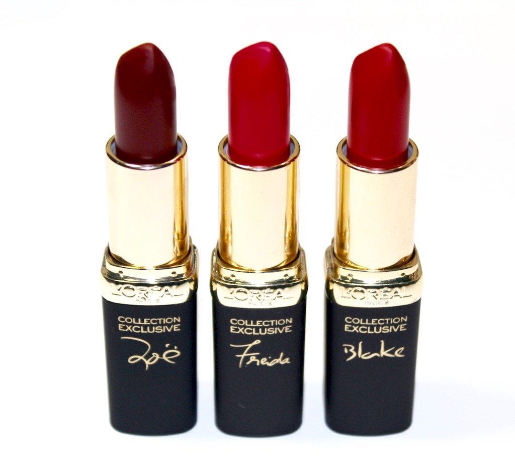 L'Oreal Colour Riche Collection Exclusive Reds Zoe Freida Blake