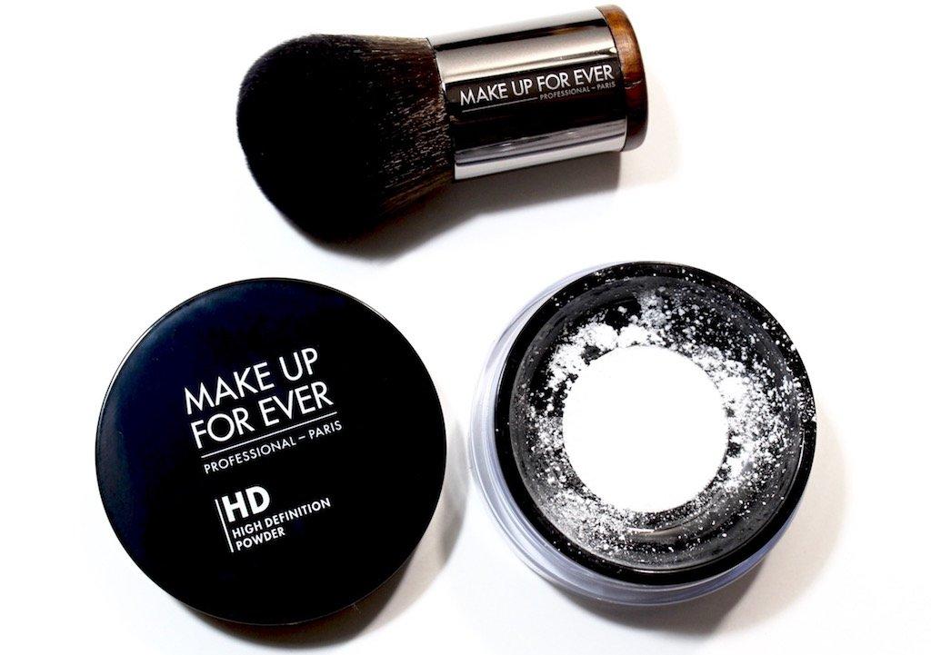 Make Up For Ever HD Microfinishing Powder and 124 Powder Kabuki Brush
