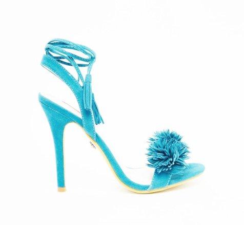 Daisy Street Afia Pom Ghillie Fringe Sandal
