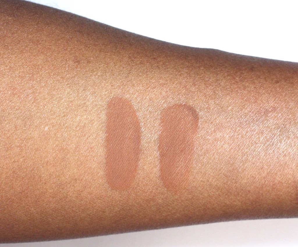 Maybelline Fit Me Matte and Poreless Foundation 338 and 355 Swatches