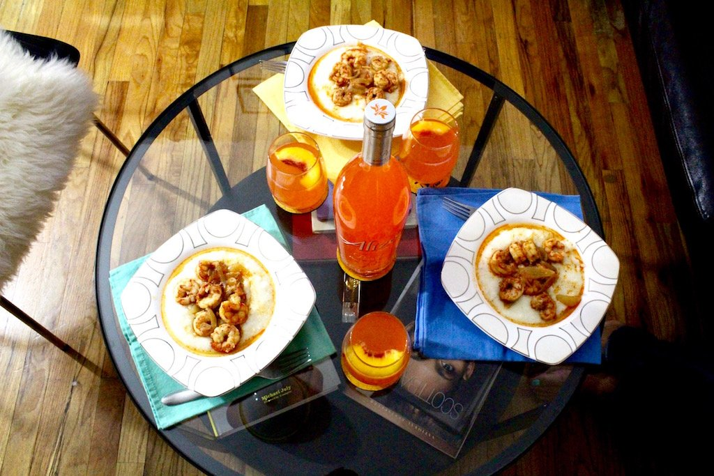 Alize Peach Bellinis and Brunch
