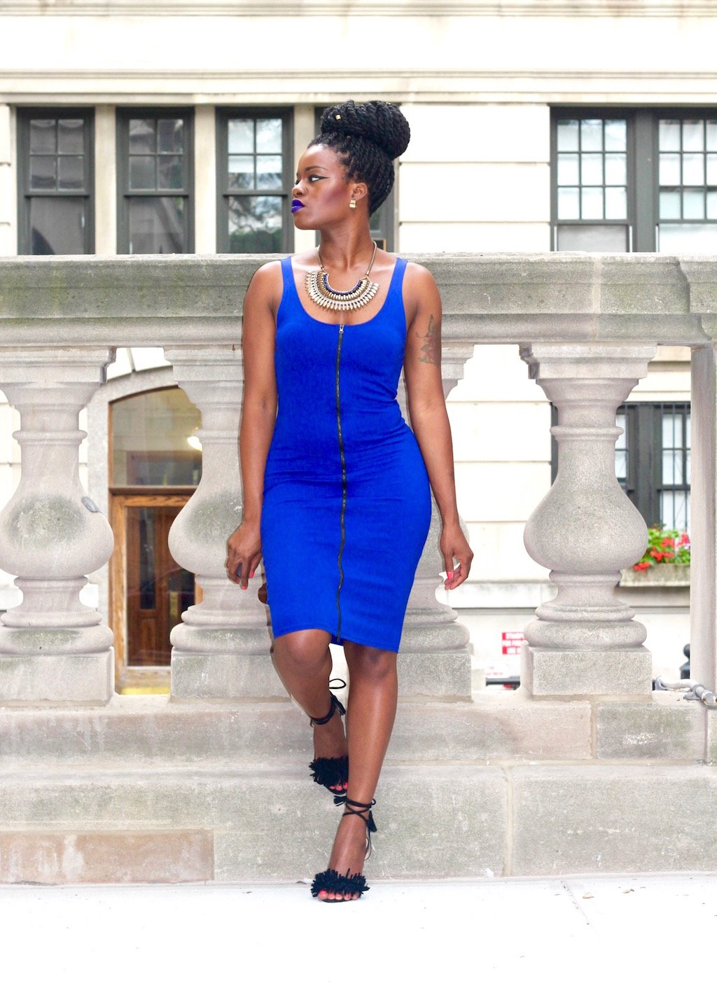 Royal Blue Dress Outfit