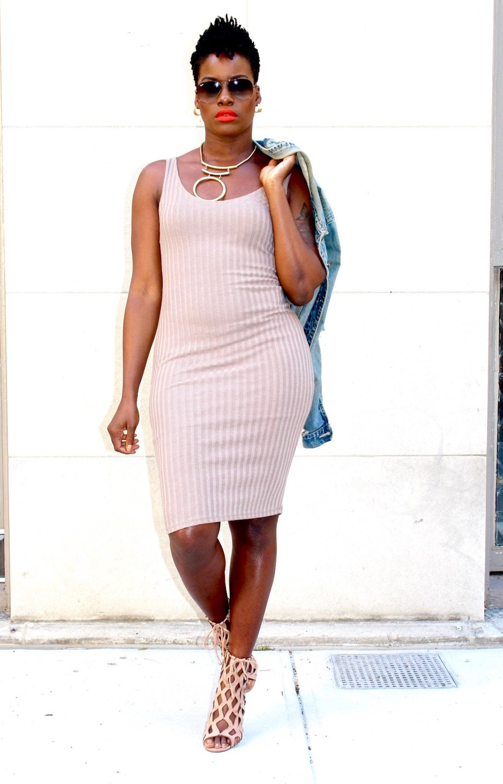 Ribbed Knit Dress Outfit