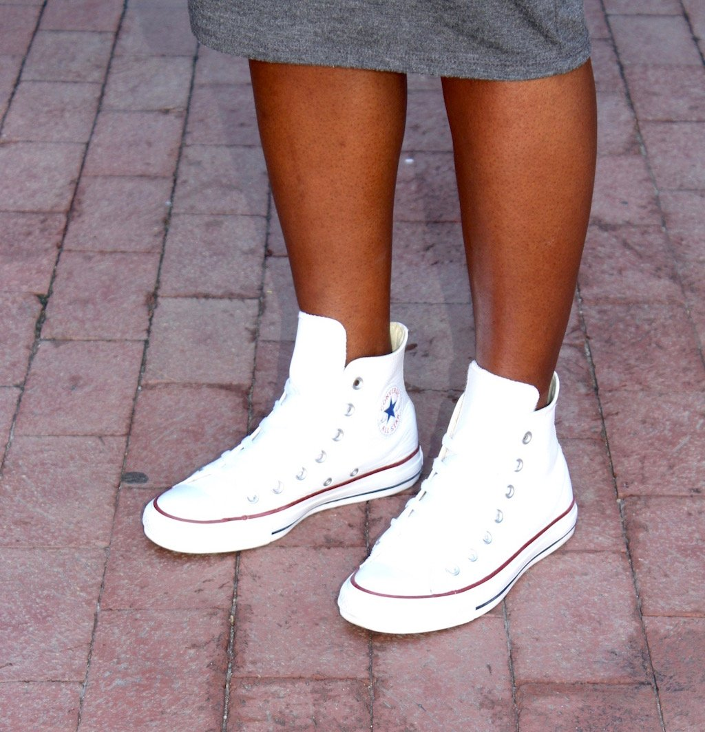 White Leather Converse Chuck Taylors