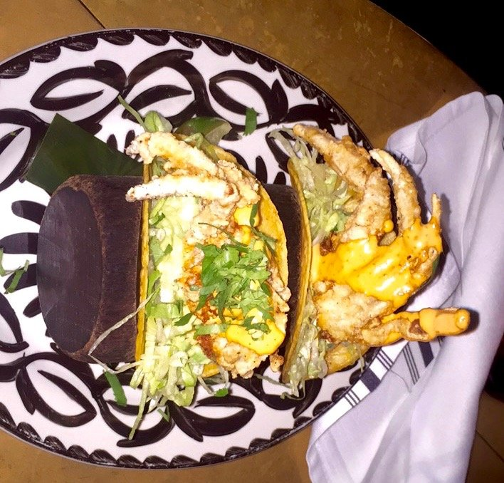 Bodega Negra Soft Shell Crab Tacos