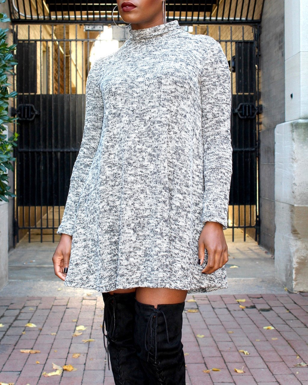Marled Sweater Dress Outfit