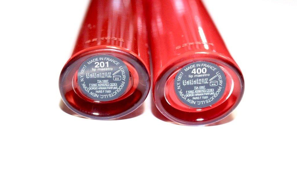 Giorgio Armani Lip Maestro Lip Gloss 201 & 400