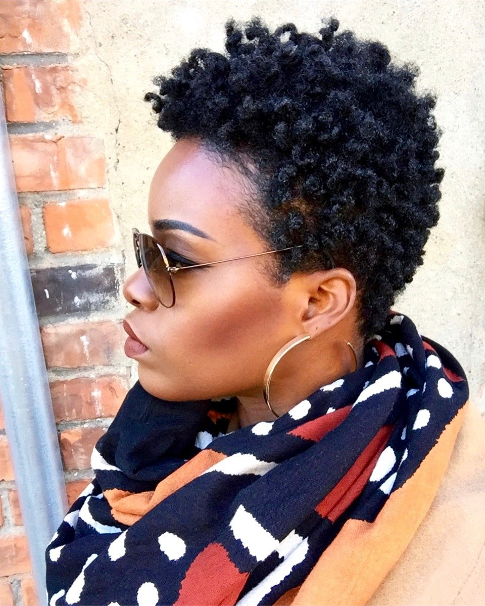 Bantu Knot Out 4c Tapered TWA