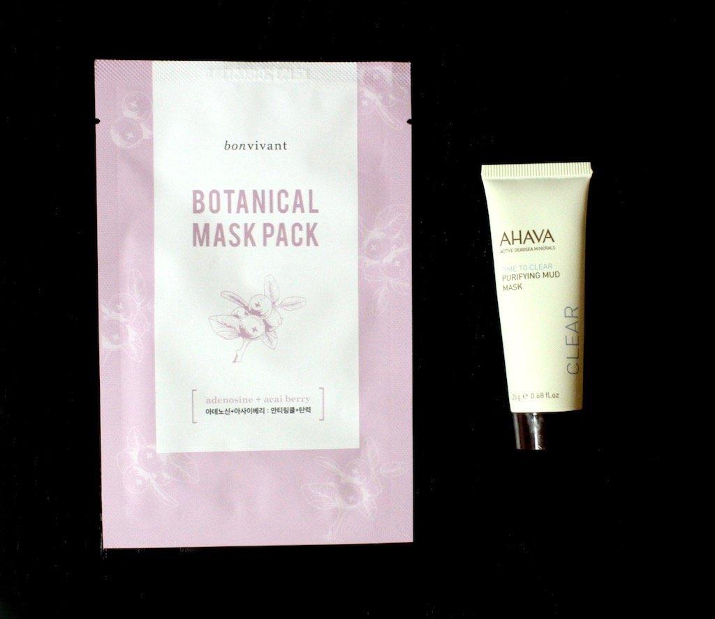 Bonvivant Botanical Mask and Ahava Purifying Mud Mask