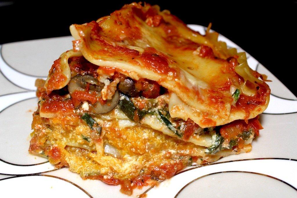 Mushroom Spinach Butternut Squash Lasagna