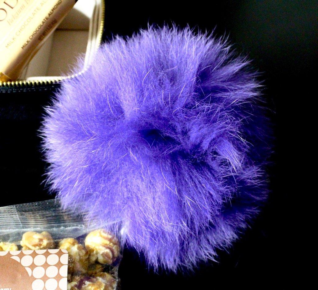 neiman marcus last call adrienne landau fox fur pompom bag charm