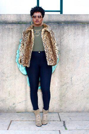 Faux Fur Leopard Coat Outfit