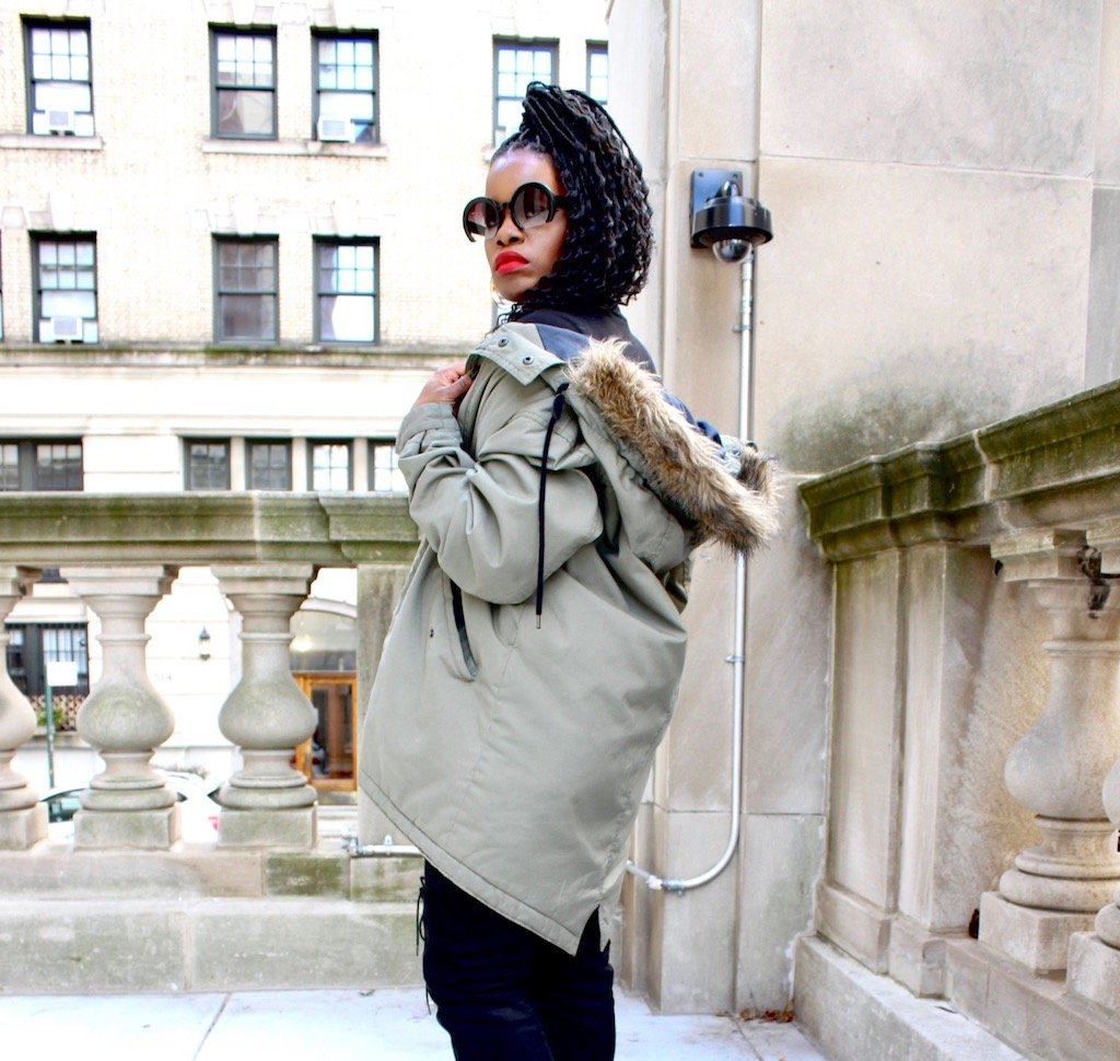 Oversized Military Parka Outfit
