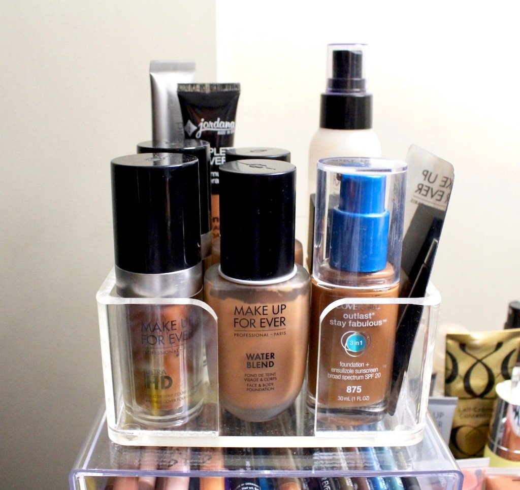 Organize Your Makeup Foundation