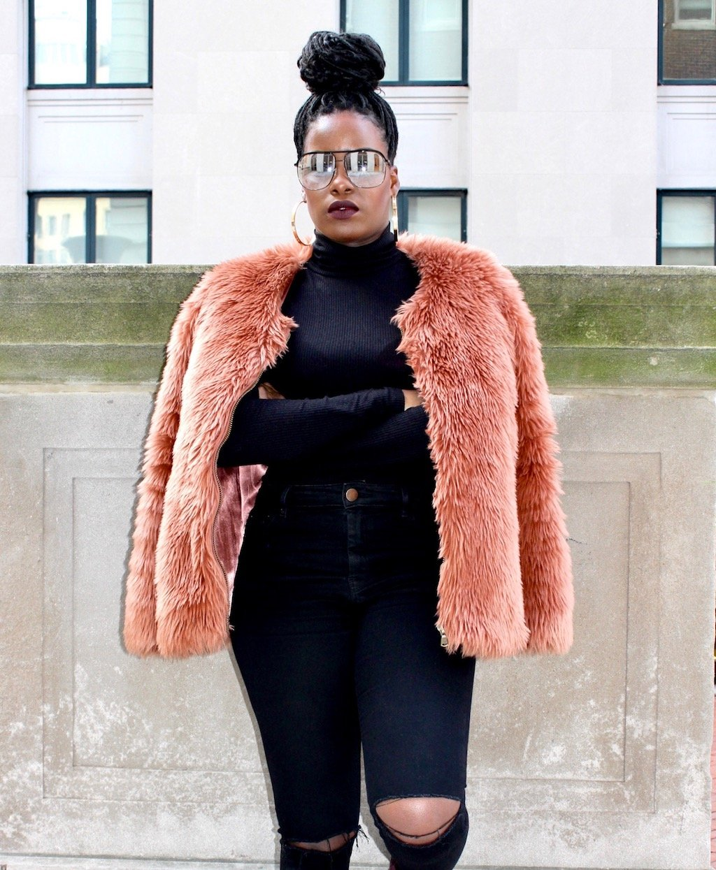Pink Faux Fur Outfit