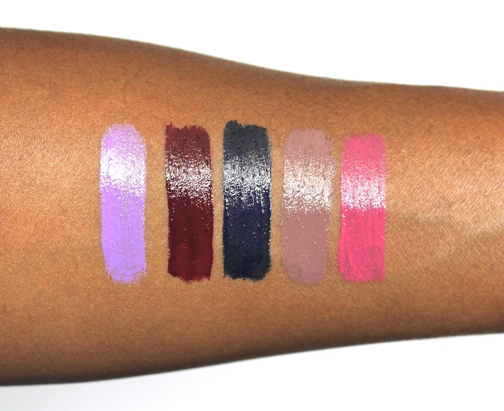 L'oreal Infalliable Paints Swatches 300, 304, 308, 310, 318