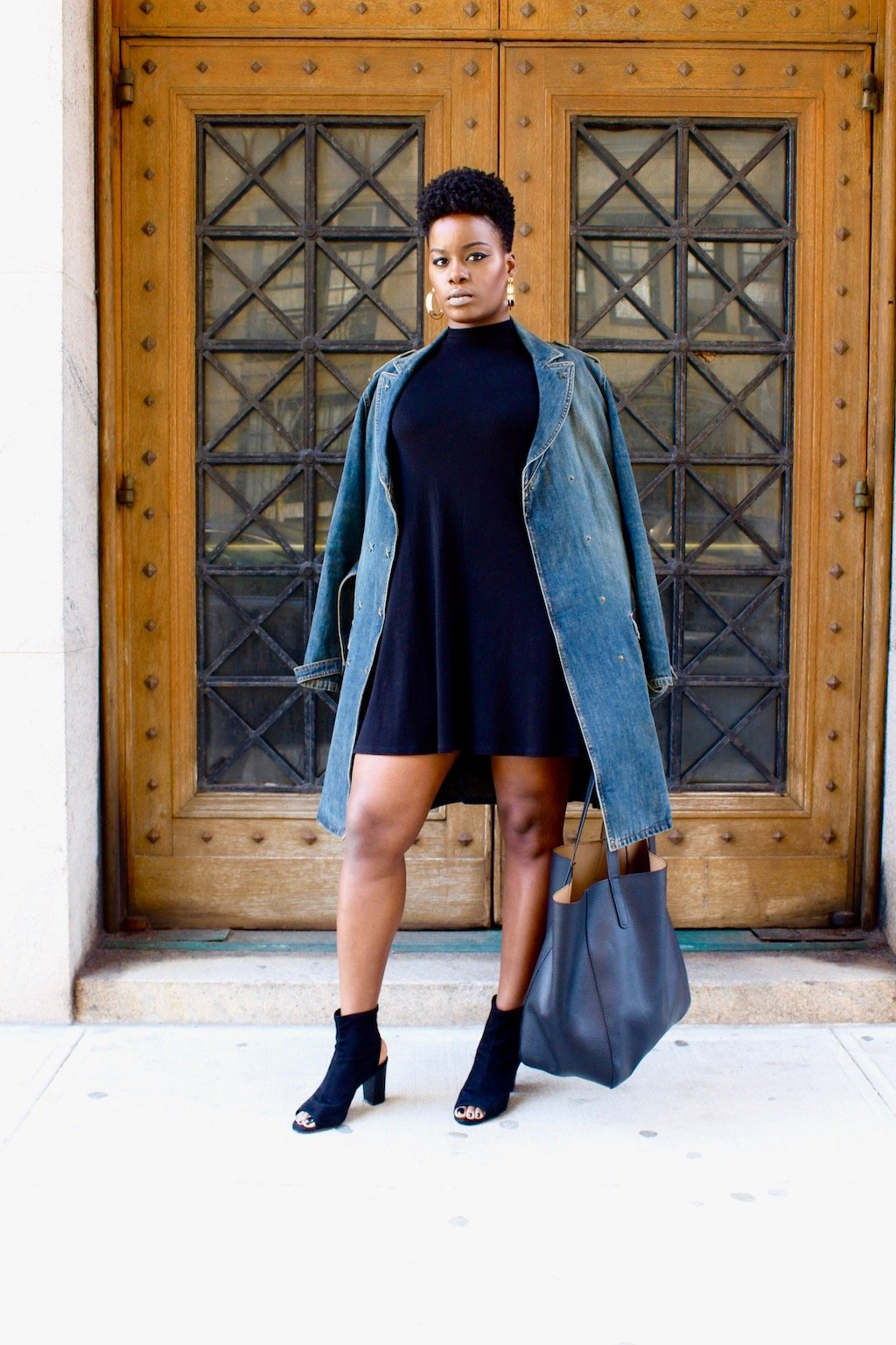 LDB and Denim Trench Coat