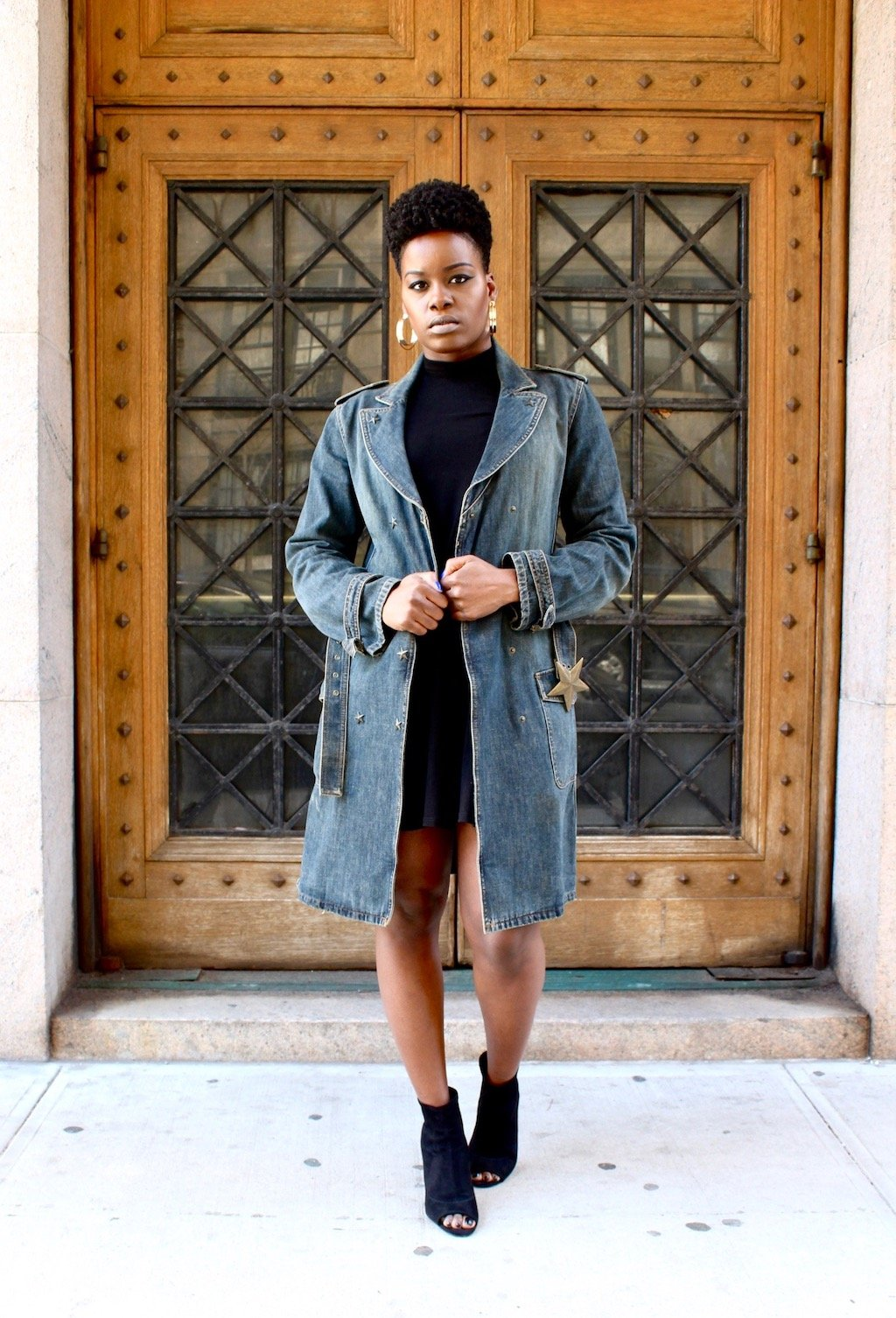 Denim Trench Coat Outfit