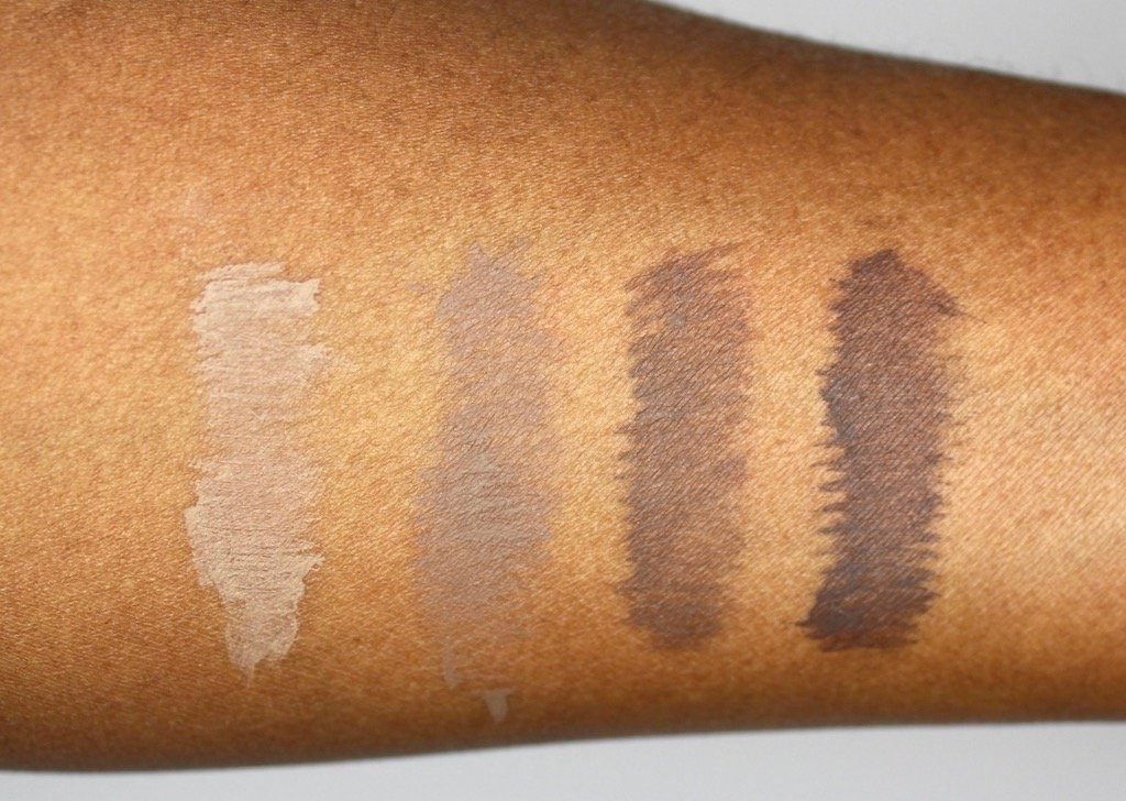 Make Up For Ever Brow Gel Swatches