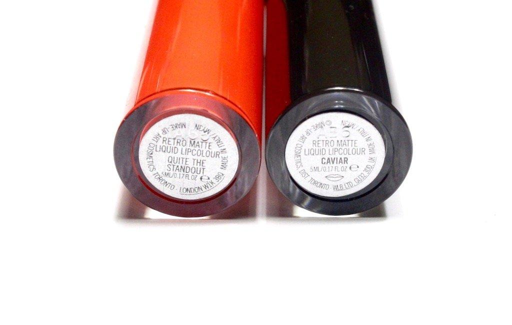 MAC Retro Matte Liquid Lipcolour Quite The Standout & Caviar