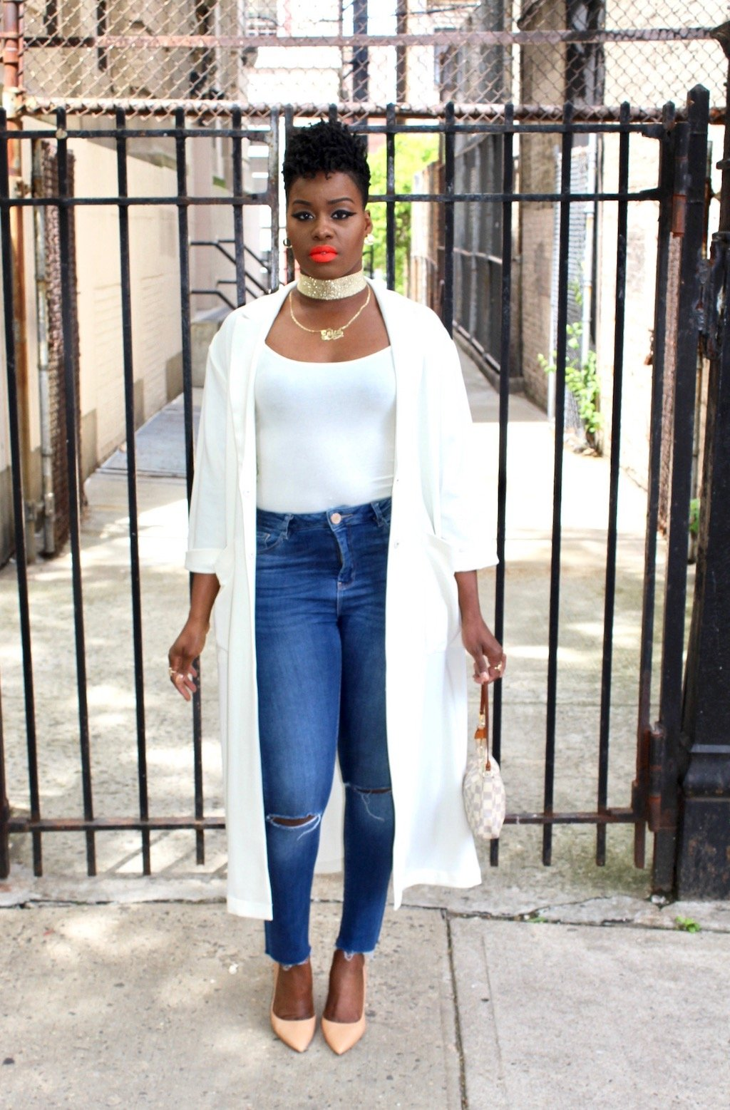 Cream Duster Outfit