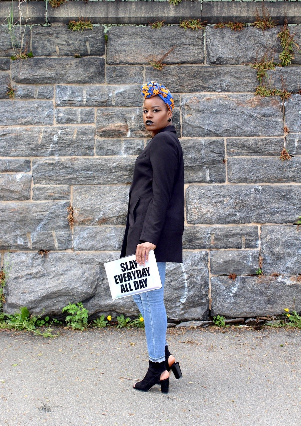 Slay Every Day All Day Clutch + Headwrap