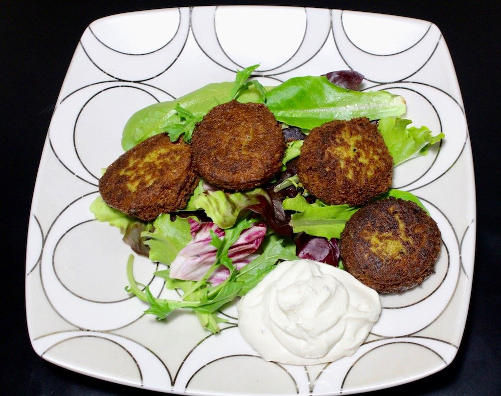 Crispy Carrot & Spinach Falafel with Tahini Yogurt Dip