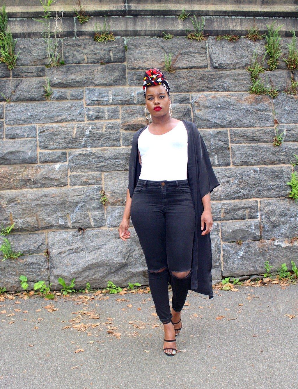 Summer Style Kimono & Headwrap