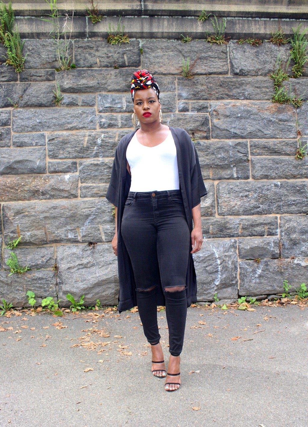 Summer Outfit Headwrap & Kimono