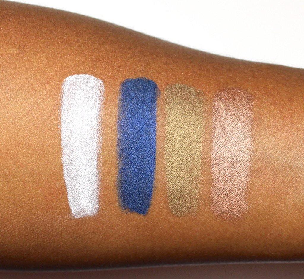 Make Up For Ever Aqua XL Color Paints Lustrous Swatches on Dark Skin