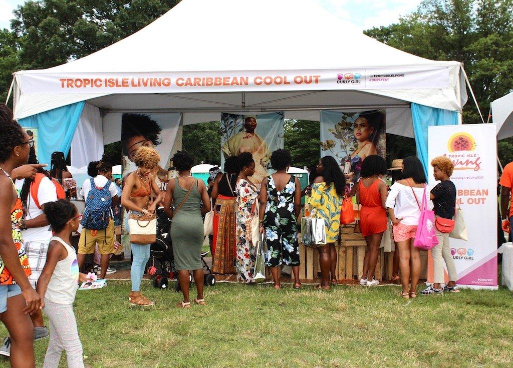 Curlfest 2017 Tropic Isle Booth