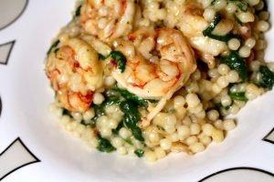Shrimp & Spinach Parmesan Couscous