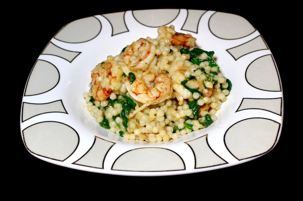 Shrimp & Spinach Parmesan Couscous