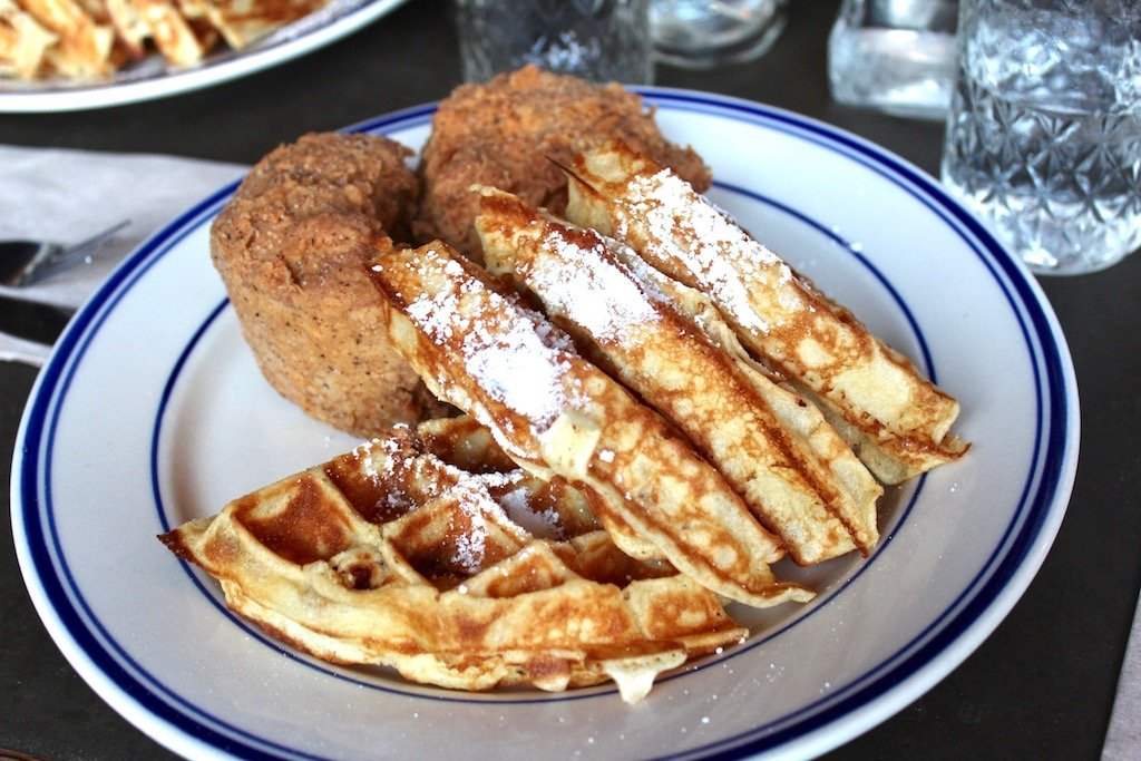 Sweet Chick Vegetarian Fried Chicken and Spiced Pecan Waffle