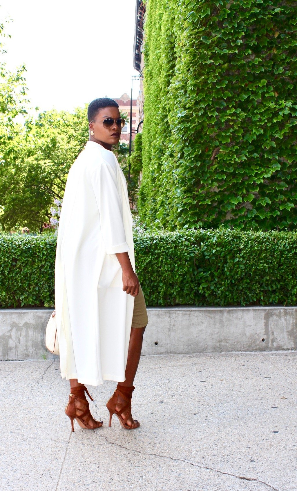 Cream Duster Coat Outfit