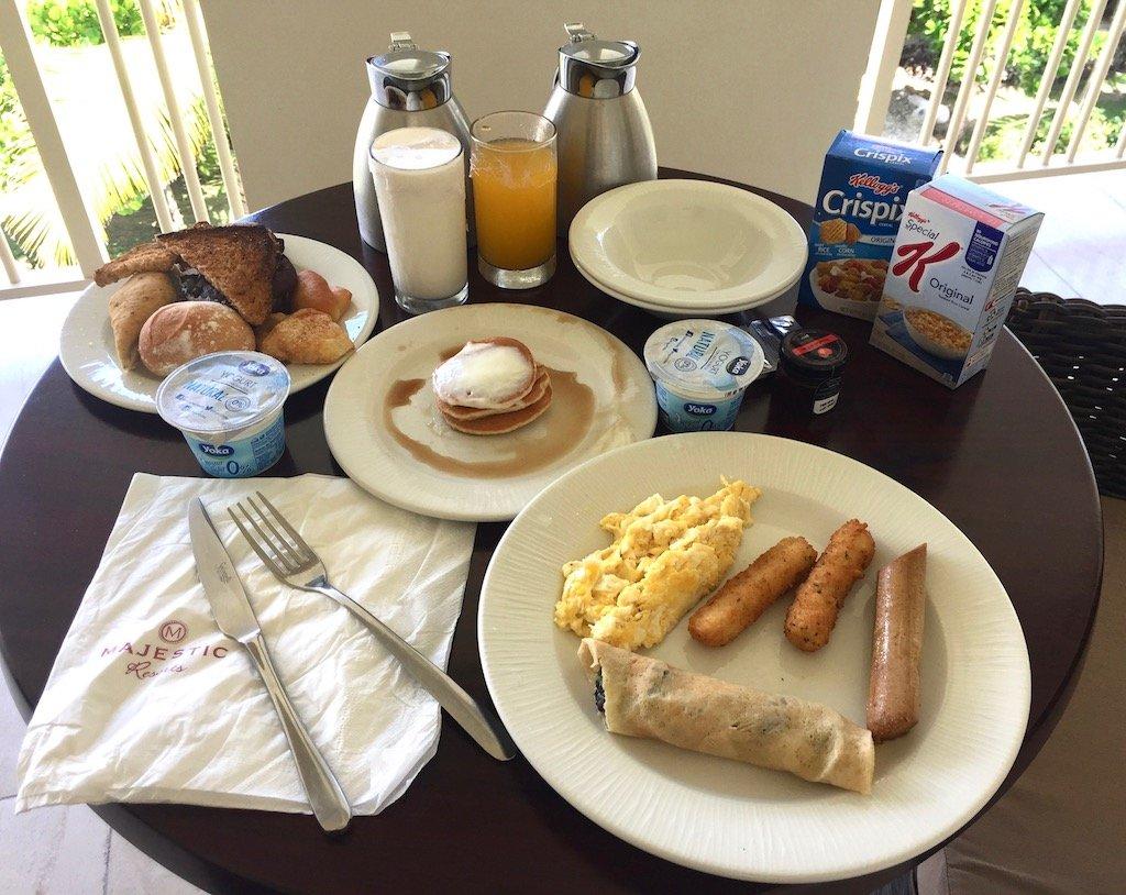 Majestic Mirage Room Service Vegetarian Breakfast