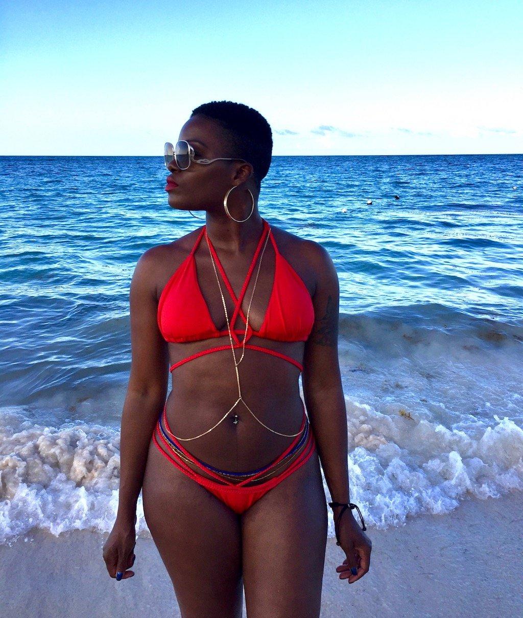 Red Braided String Bikini Punta Cana