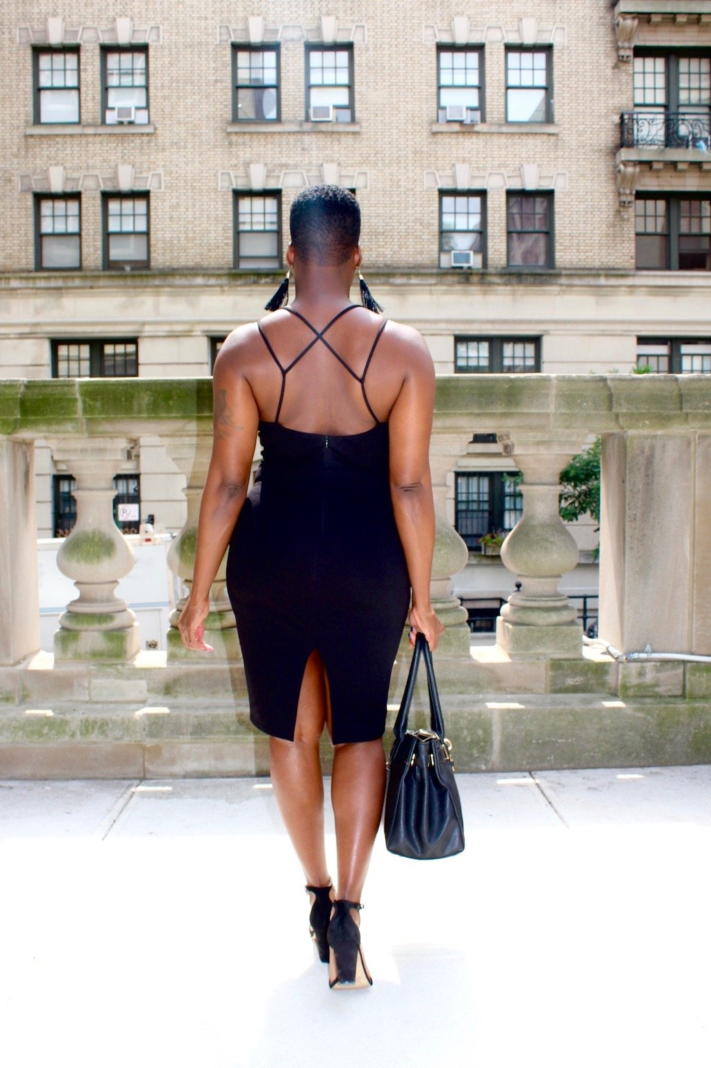 Strappy Back Little Black Dress