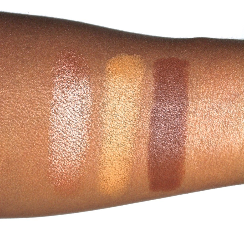 Fenty Beauty Match Stix Sinamon, Suede, Espresso Swatches