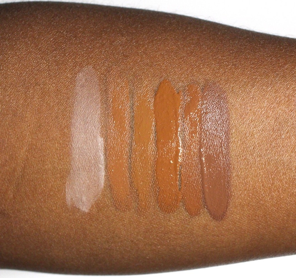 Becca Ultimate Coverage Complexion Creme Sienna, Espresso, Sandalwood, Mahogany, Cacao Swatches