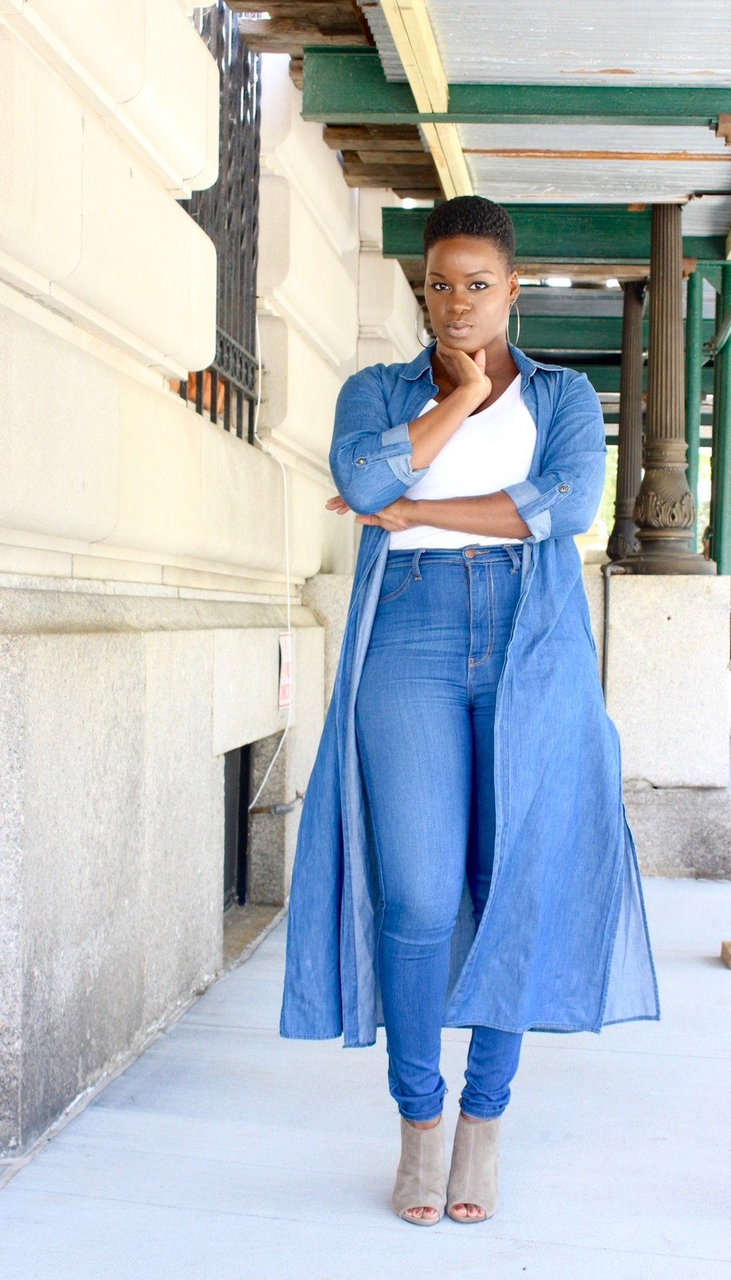 How To Wear A Denim Duster