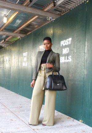 New York & Company Paperbag Waist Palazzo Pants