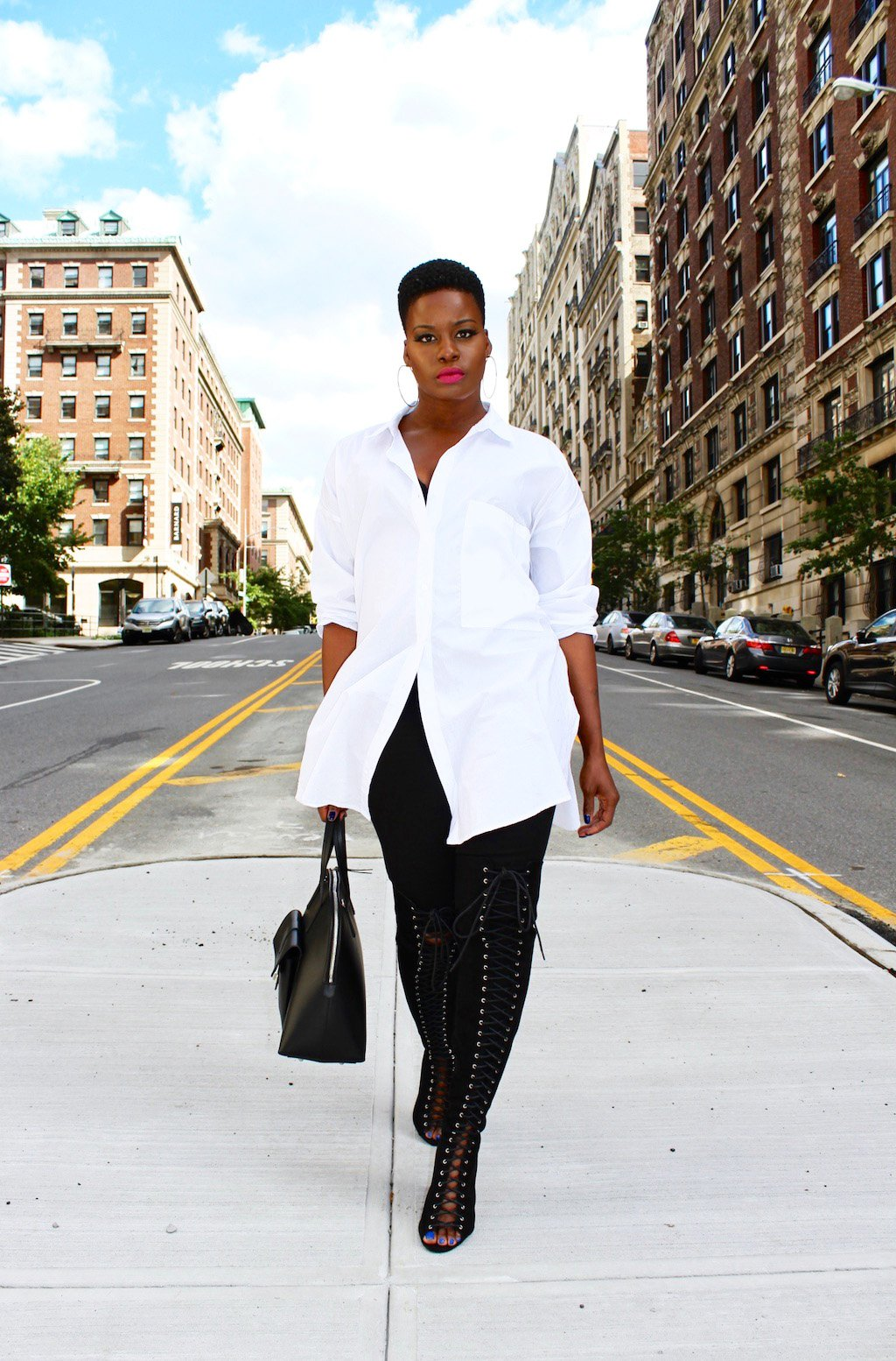 Oversized White Button Down Shirt Outfit
