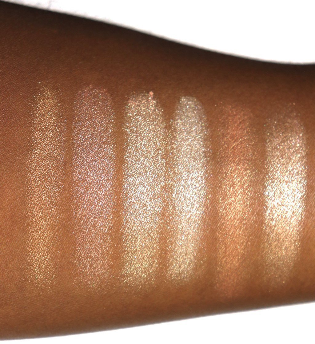 Becca Gradient Glow Swatches on Dark Skin