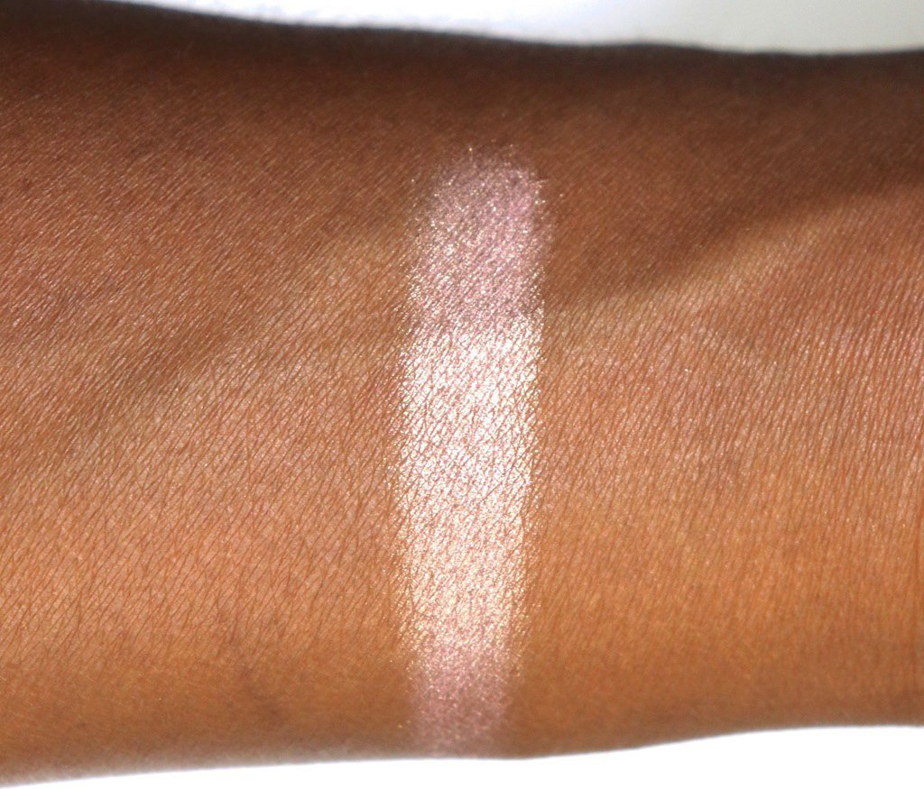 Becca Lilac Geode Swatch on Dark Skin