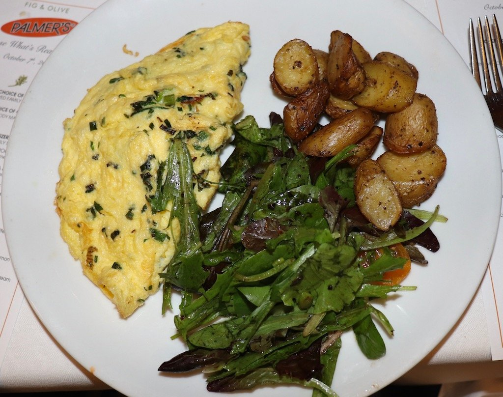 Fig & Olive French Omelette with Mediterranean Fries